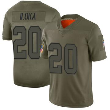 Youth Nike Dallas Cowboys George Iloka Camo 2019 Salute to Service Jersey - Limited