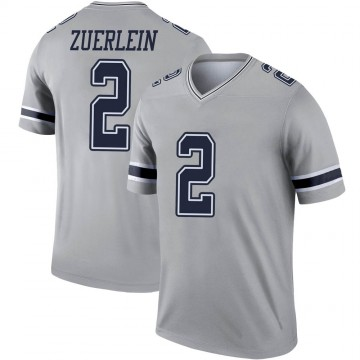 Youth Nike Dallas Cowboys Greg Zuerlein Gray Inverted Jersey - Legend