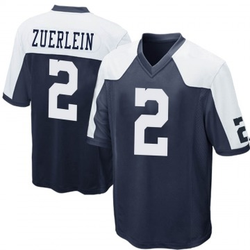 Youth Nike Dallas Cowboys Greg Zuerlein Navy Blue Throwback Jersey - Game