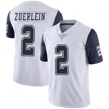 Youth Nike Dallas Cowboys Greg Zuerlein White Color Rush Vapor Untouchable Jersey - Limited