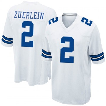 Youth Nike Dallas Cowboys Greg Zuerlein White Jersey - Game