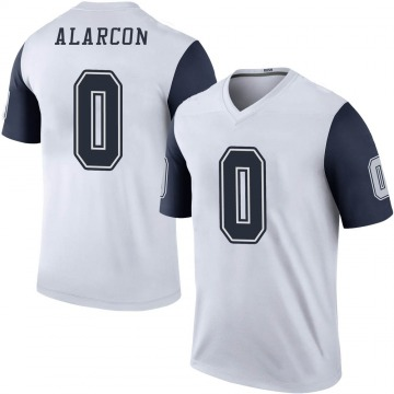 Youth Nike Dallas Cowboys Isaac Alarcon White Color Rush Jersey - Legend