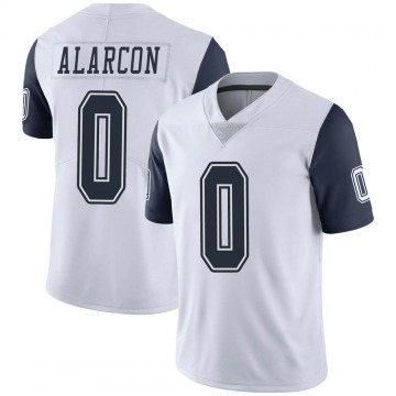 Youth Nike Dallas Cowboys Isaac Alarcon White Color Rush Vapor Untouchable Jersey - Limited