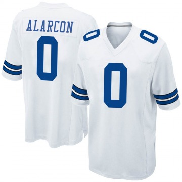 Youth Nike Dallas Cowboys Isaac Alarcon White Jersey - Game