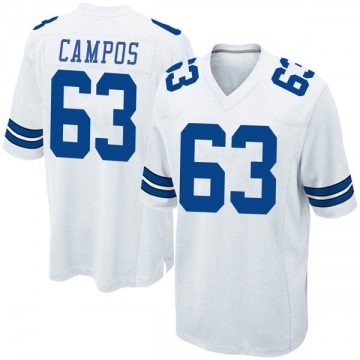 Youth Nike Dallas Cowboys Jake Campos White Jersey - Game