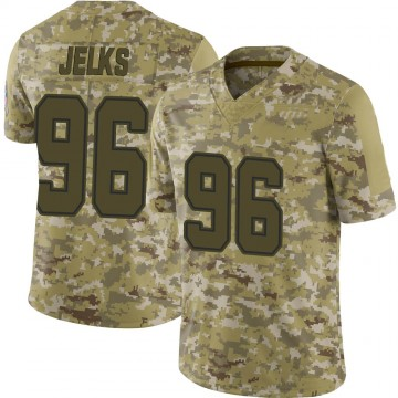 Youth Nike Dallas Cowboys Jalen Jelks Camo 2018 Salute to Service Jersey - Limited