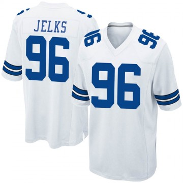 Youth Nike Dallas Cowboys Jalen Jelks White Jersey - Game
