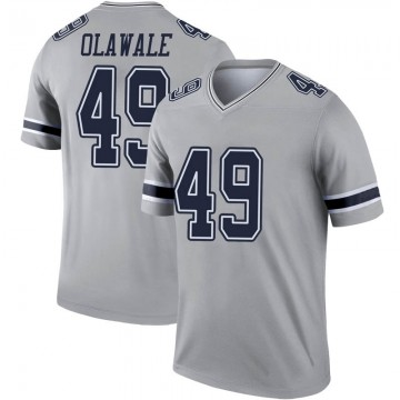 Youth Nike Dallas Cowboys Jamize Olawale Gray Inverted Jersey - Legend