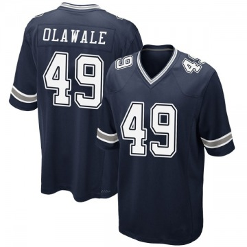 Youth Nike Dallas Cowboys Jamize Olawale Navy Team Color Jersey - Game