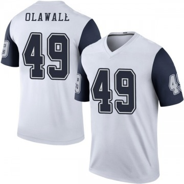 Youth Nike Dallas Cowboys Jamize Olawale White Color Rush Jersey - Legend
