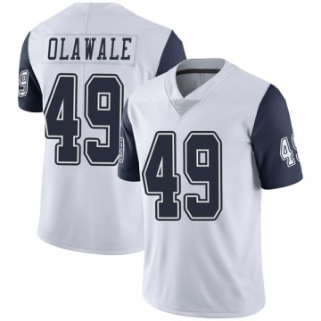 Youth Nike Dallas Cowboys Jamize Olawale White Color Rush Vapor Untouchable Jersey - Limited