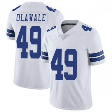 Youth Nike Dallas Cowboys Jamize Olawale White Vapor Untouchable Jersey - Limited
