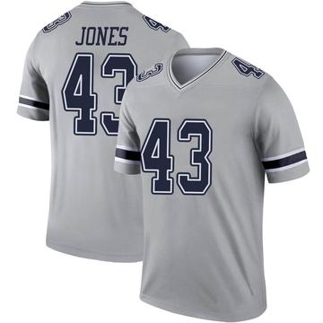Youth Nike Dallas Cowboys Joe Jones Gray Inverted Jersey - Legend