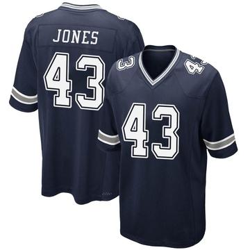 Youth Nike Dallas Cowboys Joe Jones Navy Team Color Jersey - Game