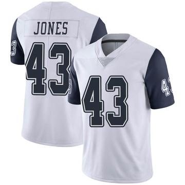 Youth Nike Dallas Cowboys Joe Jones White Color Rush Vapor Untouchable Jersey - Limited
