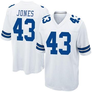 Youth Nike Dallas Cowboys Joe Jones White Jersey - Game