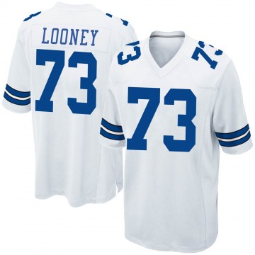 Youth Nike Dallas Cowboys Joe Looney White Jersey - Game