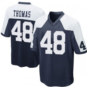 Youth Nike Dallas Cowboys Joe Thomas Navy Blue Throwback Jersey - Game