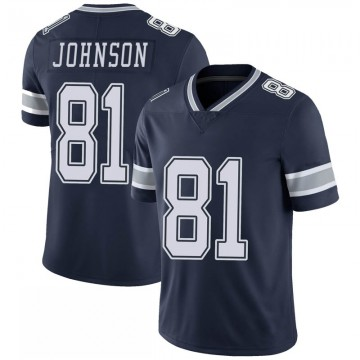 Youth Nike Dallas Cowboys Jon'Vea Johnson Navy 100th Vapor Jersey - Limited