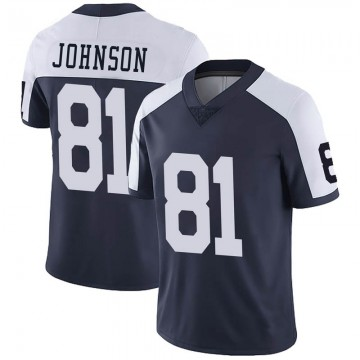 Youth Nike Dallas Cowboys Jon'Vea Johnson Navy Alternate Vapor Untouchable Jersey - Limited