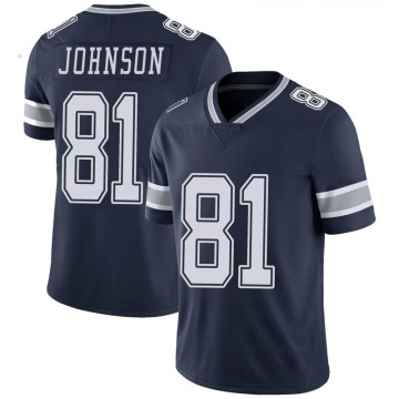Youth Nike Dallas Cowboys Jon'Vea Johnson Navy Team Color Vapor Untouchable Jersey - Limited