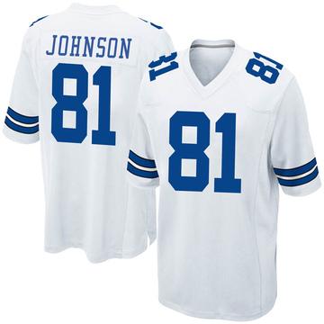 Youth Nike Dallas Cowboys Jon'Vea Johnson White Jersey - Game