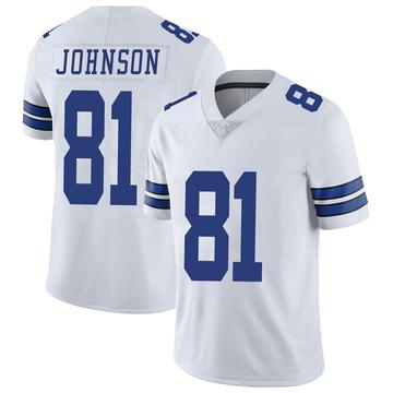 Youth Nike Dallas Cowboys Jon'Vea Johnson White Vapor Untouchable Jersey - Limited