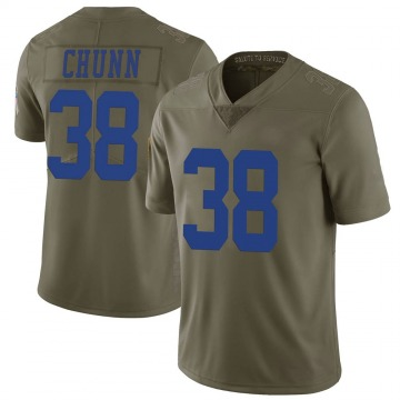 Youth Nike Dallas Cowboys Jordan Chunn Green 2017 Salute to Service Jersey - Limited