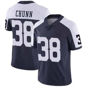 Youth Nike Dallas Cowboys Jordan Chunn Navy Alternate Vapor Untouchable Jersey - Limited
