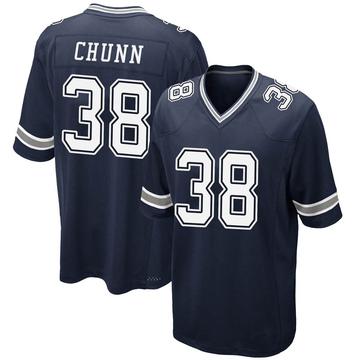 Youth Nike Dallas Cowboys Jordan Chunn Navy Team Color Jersey - Game