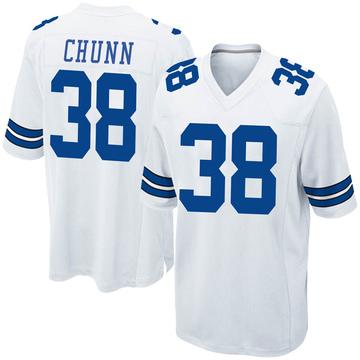Youth Nike Dallas Cowboys Jordan Chunn White Jersey - Game