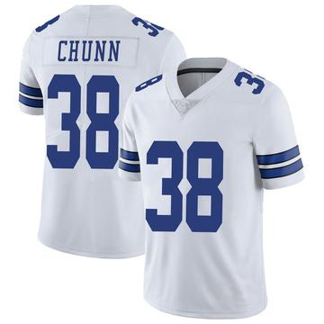 Youth Nike Dallas Cowboys Jordan Chunn White Vapor Untouchable Jersey - Limited