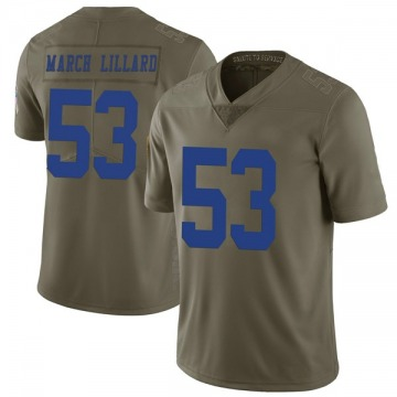 Youth Nike Dallas Cowboys Justin March-Lillard Green 2017 Salute to Service Jersey - Limited