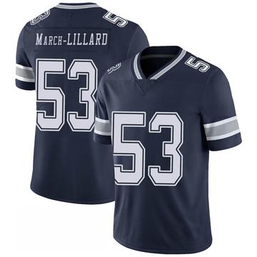 Youth Nike Dallas Cowboys Justin March-Lillard Navy 100th Vapor Jersey - Limited