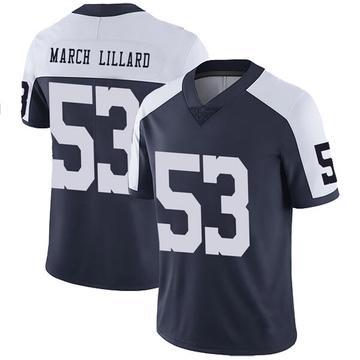 Youth Nike Dallas Cowboys Justin March-Lillard Navy Alternate Vapor Untouchable Jersey - Limited