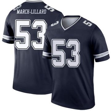 Youth Nike Dallas Cowboys Justin March-Lillard Navy Jersey - Legend