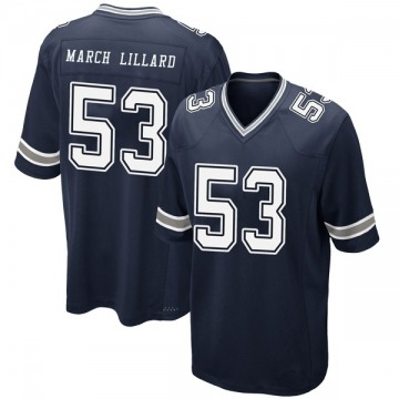 Youth Nike Dallas Cowboys Justin March-Lillard Navy Team Color Jersey - Game