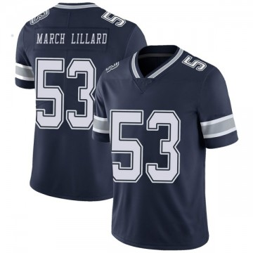 Youth Nike Dallas Cowboys Justin March-Lillard Navy Team Color Vapor Untouchable Jersey - Limited