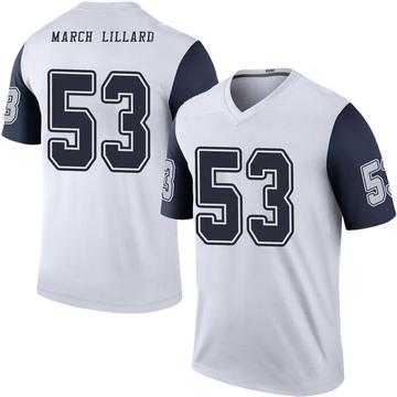 Youth Nike Dallas Cowboys Justin March-Lillard White Color Rush Jersey - Legend