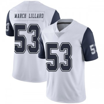 Youth Nike Dallas Cowboys Justin March-Lillard White Color Rush Vapor Untouchable Jersey - Limited