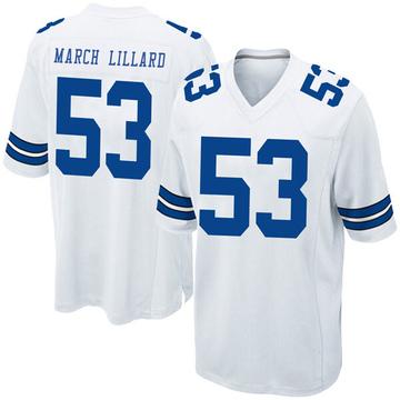 Youth Nike Dallas Cowboys Justin March-Lillard White Jersey - Game