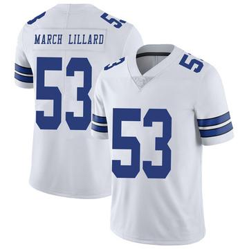 Youth Nike Dallas Cowboys Justin March-Lillard White Vapor Untouchable Jersey - Limited