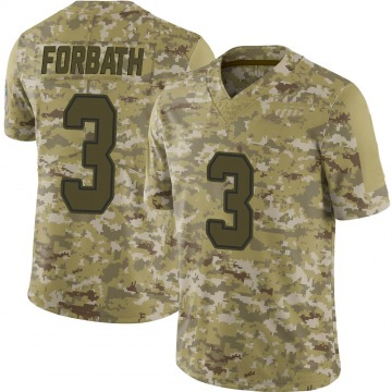 Youth Nike Dallas Cowboys Kai Forbath Camo 2018 Salute to Service Jersey - Limited