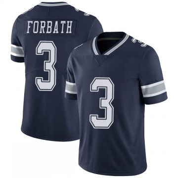 Youth Nike Dallas Cowboys Kai Forbath Navy 100th Vapor Jersey - Limited