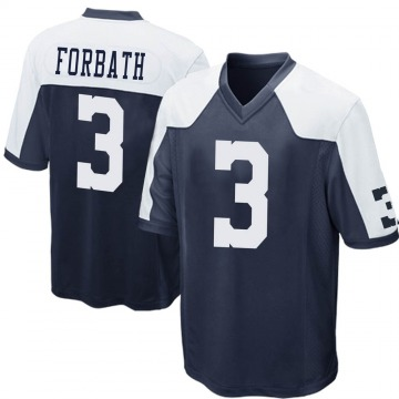 Youth Nike Dallas Cowboys Kai Forbath Navy Blue Throwback Jersey - Game