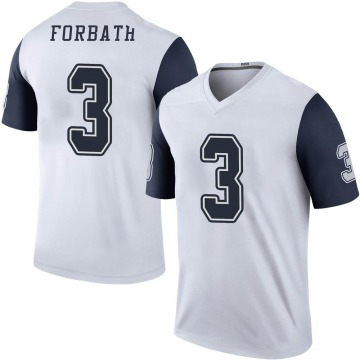Youth Nike Dallas Cowboys Kai Forbath White Color Rush Jersey - Legend