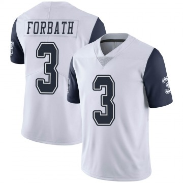 Youth Nike Dallas Cowboys Kai Forbath White Color Rush Vapor Untouchable Jersey - Limited