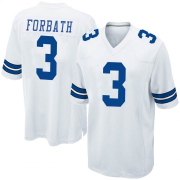 Youth Nike Dallas Cowboys Kai Forbath White Jersey - Game