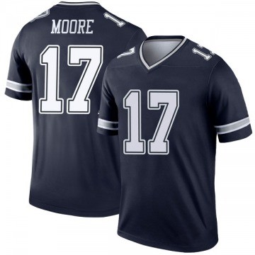 Youth Nike Dallas Cowboys Kellen Moore Navy Jersey - Legend