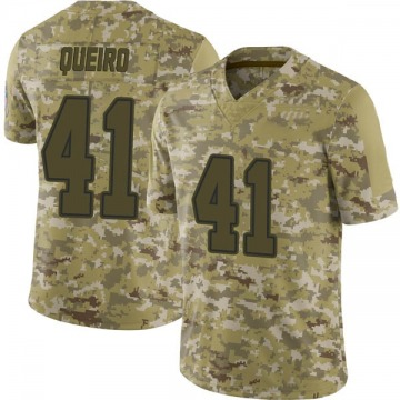 Youth Nike Dallas Cowboys Kyle Queiro Camo 2018 Salute to Service Jersey - Limited